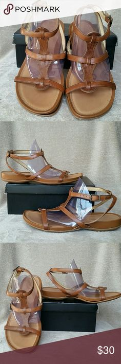 New NURTURE brand brown leather gladiator sandals New NURTURE brand brown leather gladiator sandals with adjustable strap at ankle. Beautiful chestnut brown color. Great comfy shoes from a great brand NURTURE known for quality and comfort! New never worn but no box Nurture Shoes Sandals