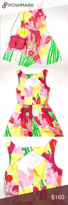 LILLY PULITZER Floral Dress Great condition. Cute fit. Lined. Lilly Pulitzer Dresses