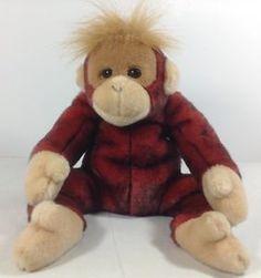 1999 Ty Beanie Babies Plush Red Sleepy Schweetheart The Orangutan Monkey. 538ca116a962