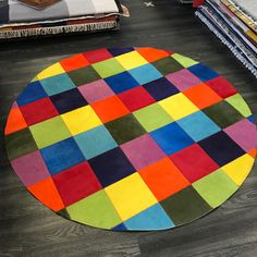 Patchwork Rugs, Patchwork Patterns, Cowhide Rugs, Cowhide Leather, Circle Rug, Round Rugs, Natural Leather, Colours, London