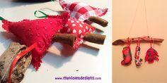 Adornos Navideños My Violet :D pinitos, botas y dulces en tela. myvioletdesigns.com