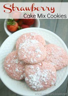 Strawberry Cake Mix Cookies Recipe - Delicious!