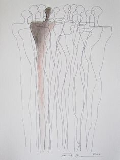 Åse Margrethe Hansen/Defined. Ink, charcoal, color pencil