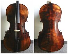 Antique Style Varnish 4/4 Full Size Cello, Strad Style,Helicore Strings+Bag+Bow #alexanderviolins