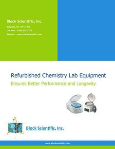 Refurbished Chemistry Lab Equipment Ensures Better Performance and Longevity Chemistry Lab Equipment, Chemistry Labs, Medical Laboratory