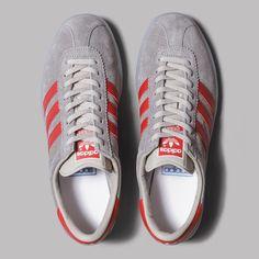 adidas Hochelaga SPZL (Light Onix   Power Red   White) d45f2fcb0ffcc
