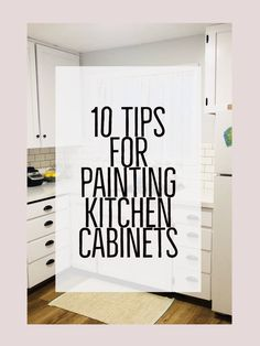 10 Tips for Painting Kitchen Cabinets. 10 tips for painting kitchen cabinets. If your kitchen cabinets need updating and you have been thinikin of painting them. Here are 10 Tips for Painting Kitchen Cabinets (learned the hard way) Budget Kitchen Remodel, Kitchen On A Budget, Kitchen Ideas, Kitchen Decor, Kitchen Designs, Kitchen Interior, Kitchen Knobs, Apartment Kitchen, Kitchen Sinks