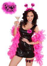 Anstecker Party Girl Junggesellinnen- Abschied pink-schwarz