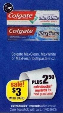 FREE Colgate Max Fresh Toothpaste at CVS Starting 11/10!