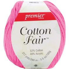 Premier Yarn 3Pack Cotton Fair Solid Yarn Bright Pink ** Want to know more, click on the image.