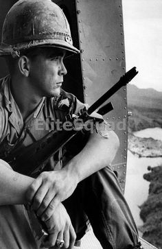 $4.95 - Vietnam War Photo 101St Airborne Division Soldier In A Helicopter 1968 521 #ebay #Collectibles
