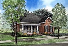 House Plan 61012   Colonial Country Plan with 2252 Sq. Ft., 3 Bedrooms, 3 Bathrooms, 2 Car Garage