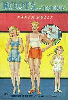 1943 Boots and Her Buddies paper dolls / eBay