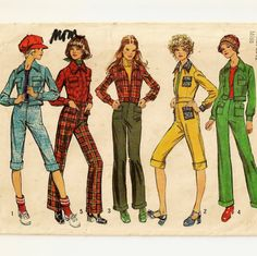 A Motorcycle-Style Jacket and Front Zip, Cuffed, Below Knee or Full Length Pants Pattern, ©1972