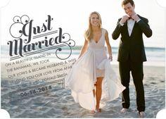 Just married-elope-elopement- announcement