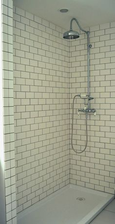 White Subway Tile Shower Frost Grout By Mapei Like The