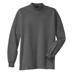 Port Authority Men's Perfect Knit Mock Turtleneck T-Shirt