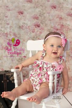 Baby Girl Clothes and headband Baby girl 1st birthday outfit Baby - http://www.babies-clothes.info/baby-girl-clothes-and-headband-baby-girl-1st-birthday-outfit-baby/