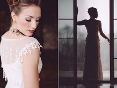 "Gold and Glam Wedding Ideas - Claire Pettibone ""Kristene"""