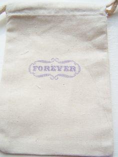 Wedding Favor Gift Bag Muslin Bag Bridal Shower by WitsEndDesign, $1.50