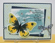 Watercolor Wings Card by Savvy Handmade Cards using colours from cQc #296. Stampin' Up!