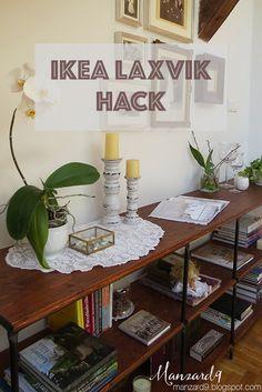 IKEA LAXVIK HACK tutorial I IKEA Laxvikból loft könyvespolc - így készült leírással *Manzard9