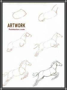 رسم حصان بالرصاص سهل بسيط بالخطوات والصور للأطفال والمبتدئين Art Print Collection Cute Little Drawings Amazing Art Painting