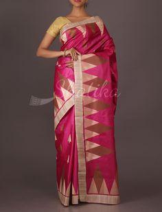 Amita Play Of Triangles Wedding #TussarSilkSaree
