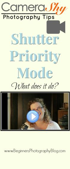 Ever wondered what Shutter Priority Mode does? In this video Ingrid talks a little about what Shutter Priority Mode is on your DSLR or bridge camera. For more Photography tutorials and tips, sign up for Blog Updates :  http://beginnersphotographyblog.com/signup/