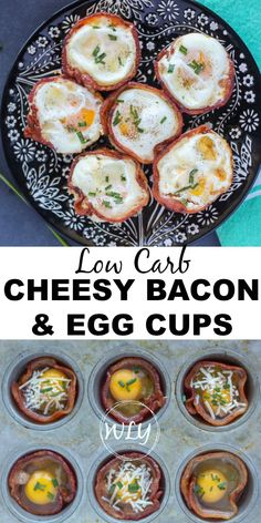 Cheesy bacon and egg cups with a splash of cream and a parmesan crust to make these extra divine! This low carb bacon and egg cup recipe works great for people also looking for keto breakfast recipes, low carb snacks on the go or are wanting delicious gluten free breakfast ideas. #eggs #bacon #cheese #lowcarbdiet #glutenfree #sugarfree #breakfastrecipes