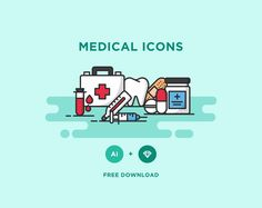 Free Vector Medical Icons Icons AI Flat Free Graphic Design Icon Medical Outline Resource Vector