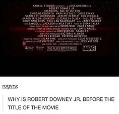 He's Robert Downey Jr. why do you think?