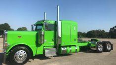 Peterbilt 389, Peterbilt Trucks, Big Rig Trucks, Semi Trucks, Instagram And Snapchat, Hot Rods, Memories, Watch, Green
