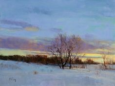 """""""February Twilight"""" ~ 12"""" x 16"""" Oil ~ In the """"Dan Beck, Peter Fiore & Marc Hanson Show"""" October 1-31"""