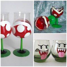 Super Mario Brille - New Ideas Geek Birthday, Super Mario Birthday, Mario Birthday Party, Super Mario Party, Birthday Ideas, Birthday Cards, Geek Decor, Geek Crafts, Diy And Crafts