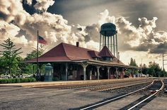 Manassas VA Train Station  by Gene Sizemore