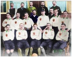 First known photograph of Celtic FC taken at Vale of Leven's ground  Ground Millburn Park 22nd December 1888.