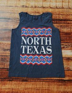 UNT Tribe Tank - DENIM at Barefoot Campus University Of North Texas, Burn Calories, Barefoot, Cloths, Burns, College, Denim, Beauty, Shopping