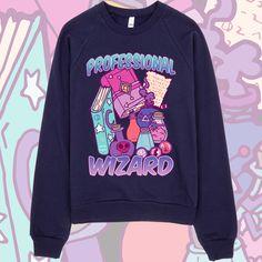 Professional Wizard - Unisex Navy Raglan Sweater