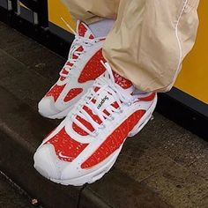 "Sneaker Bar Detroit on Instagram  ""Supreme x Nike Air Max Tailwind 4 has  leaked in a Red and White colorway. For more details 18a8677fb"