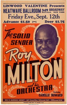 Roy Milton Heatwave Ballroom Concert Poster (Linwood | Lot #89219 | Heritage Auctions