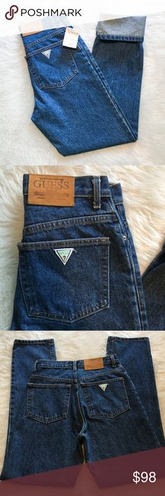 Guess Vintage NWT Jeans Vintage Guess a George Marciano Design green label jeans. These are NWT!!! Rare.❌Trade ❌Modeling ❌ No off Poshmark transactions ❤️ Bundle and save  Fast shipper ❤️ I love reasonable offers Guess Jeans