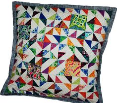 make pillows out of old quilts.
