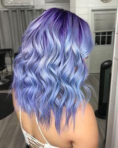 See Ya, Lavender — Periwinkle Is Our New Favorite Pastel Hair Color - Haare Stylen Cute Hair Colors, Hair Dye Colors, Cool Hair Color, Pastel Hair Colors, Colorful Hair, Lavender Hair Colors, Creative Hair Color, Different Hair Colors, Vibrant Colors