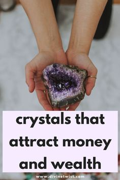 Place these crystals around your home to attract more money and wealth into your life. Crystals For Wealth, Stones And Crystals, Lucky Stone, Attract Money, Mind Body Spirit, Eye Stone, Chakra Stones, Health Advice