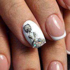 Ballerina Nails Acrylic Nail Designs Make You Elegant for New Year, Acrylic Nail Ideas, Manicure Nail Art Designs, Acrylic Nail Designs, Acrylic Nails, Nails Design, New Year's Nails, Fun Nails, Pretty Nails, Super Nails, Nail Decorations