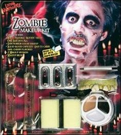 MakeUp! Costumes! Zooming Around Zombie Face Makup Kit #FM