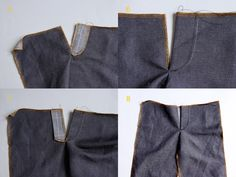 Trula: Button fly trouser tutorial