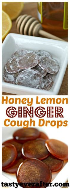 Lemon Ginger Cough Drops Easy homemade version of an all-natural, healthy cough drop. Perfect for flu season!Easy homemade version of an all-natural, healthy cough drop. Perfect for flu season! Dry Cough Remedies, Home Remedy For Cough, Health Remedies, Herbal Remedies, Bloating Remedies, Home Made Cough Drops, Honey Cough Remedy, Psoriasis Remedies, Desserts