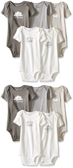 Carter's Unisex Baby Multi-Pack Bodysuits, Assorted, 18 Months